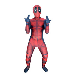 Wholesale Halloween Zentai Costumes - Kids 3D Deadpool 3D X-Men Deadpool Halloween Cosplay Superhero Lycra Spandex Zentai Suits Deadpool Costume (Unisex)