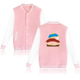 Wholesale Xxl Size Baseball Jackets - Wholesale-Hip Hop Sitcoms South Park Men Baseball Jacket BlackMens High Street Hoodie Sweatshirt Plus Size XXL