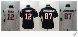 Wholesale Cheap Short Womens - Womens Color rush new #12 Tom Brady 87 Rob Gronkowski American College Football Shirts Stitched Embroidery Sports Team Pro Jerseys Cheap