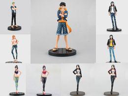 Wholesale One Piece Brotherhood - Huong Anime One Piece 18CM Brotherhood Nami Robin Zoro Luffy Boa Hancock Trafalgar Law PVC Action Figure Collectible Model Toy