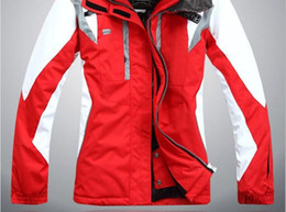 Wholesale Skating Clothes - High quality outdoor sportswear ski jacket women ski suit windproof waterproof skiing clothing Free Shipping
