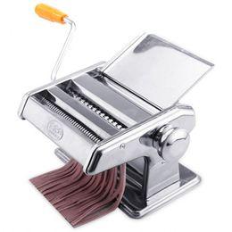 Máquinas de fideos online-Máquina de fabricación de pasta de acero inoxidable Máquina de hacer fideos manual Cortador de espagueti manual Percha de fideos Alta calidad 38qx C RC