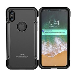 Wholesale Military Shockproof Cases Iphone - For iPhone X Case,Aluminum Alloy Metal Full-body Protective Military Shockproof Bumper Heavy Duty Armor Defender Hard Back Cover Shell Case