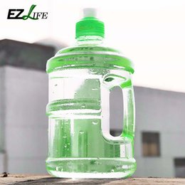 Wholesale Plastic Kettle - Wholesale- 0.5L Professional Free Sport Gym Training Party Drink Water Bottle Cap Kettle With Handle For Outdoor Camping Drinking Tools