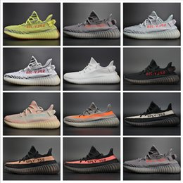 Wholesale Rubber Core - Boost 350 V2 Sply Beluga 2.0 Grey Bold Orange AH2203 Zebra Cream White Core Bred Black Red Semi Frozen Yellow Running Shoes With Box