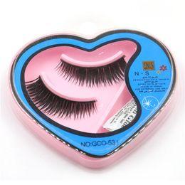 Wholesale Blink Lashes - Long False Eyelash Brand Fashion Lash Blink Black Full Strip Fake Lashes MINK EyELAES Makeup Tool 2 Pairs lot