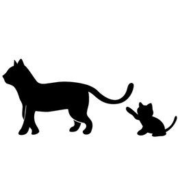 Wholesale Naughty Baby - Wholesale 10pcs lot Cat Mom and Baby Naughty Kittens Playing Follow Closely Car Sticker for All Smooth Surface Home Car Styling Vinyl Decal