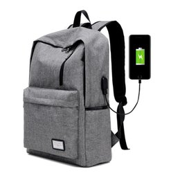Wholesale Casual Men Bags - Men's Everyday Backpack Nylon Teenager School Bag Tech Backpack Women Daypack Rucksack Laptop Bag with USB Charge Port B093