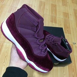 Wholesale Online Media - with box high quality New Retro 11 Velvet Heiress wine red Basketball Shoes Men and women Online 11S XI Authentic Sports Shoes