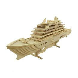 Wholesale 3d Cruise Ship - BOHS Scale Titanic Educational Wooden Model Souvenir 3d Puzzle Cruise Ship Liner Luxury Yachat