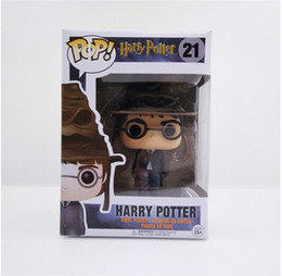 Wholesale Pops Dolls - 20151018 Free Shipping Funko POP Harry Potter With Sorting Hat #021 PVC Action Figure Collection Kids Toys Doll 10cm