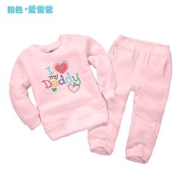 Wholesale Baby Winter Set Coat Trousers - Wholesale- Girl's clothing sets autumn&spring fashion Baby Set cotton tracksuits Kids sport suits monkey Dino coats sweatshirts+ trousers
