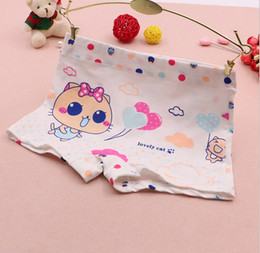 Wholesale Panties Rabbit - XZM 4 options 4 colors mix Children underwear girl panties cotton knit baby kids boxers rabbit cat bear bow knot cartoon
