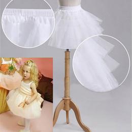 Pas cher 2017 Blanc Robe De Bal Enfants Fille Jupon 3 Couche Ballet Jupon Blanc Noir Crinoline Fleur Fille Robe Jupon Jupon ? partir de fabricateur