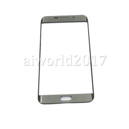 Wholesale Outer Replacement Screen - 50 PCS Original Front Outer Touch Screen Glass Lens Replacement for Samsung Galaxy S6 Edge Plus G9280 S7 Edge G9300 free DHL