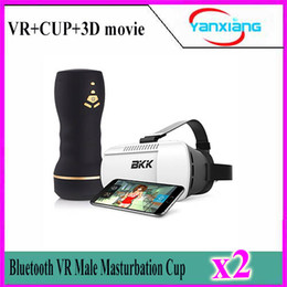 Wholesale Reality Vagina - 2pcs 2017 3D VR Glassesl Male Masturbator Virtual Reality Interactive Sex Toys for Men Realistic Vagina Masturbation Cup YX-FV-01