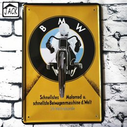 Wholesale Iron Motorcycle Club - Motorcycle Yellow Ride 20x30CM Metal Tin Signs Advertising Shop Bar Decor Retro Tin Plaques Cafe Club Pub Home Decor Iron Plate