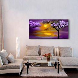 Wholesale original oil painting framed - No framed 100% handmade oil painting on canvas modern Best Art Landscape oil painting original directly from artis