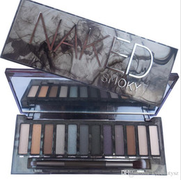 Wholesale Shadow Naked Makeup - NEW in stock NAKED Skok Eye Shadow New Arrive High Quality HOT Sale Makeup NUDE Smoky Palette 12 Color Eyeshadow Palette kylie tarte.