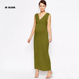 a77ebdacec0 Maternity Clothing V-Neck Fashion Long Evening Gowns Dresses For Pregnant  Women Nice Pregnancy Vestidos Maternity Party Prom Garment Hot