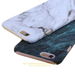 Wholesale Hard Carry Case Cover Bag - New Fashional Smooth Marble Skin Design cases for iphone 6 6s 6 plus 6s plus Hard Carry back cover Bags Wholesale Retail