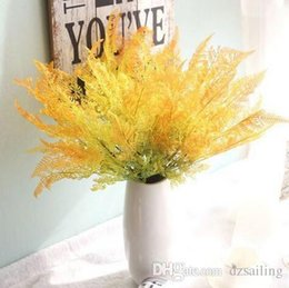 """Wholesale Home Party Marketing - Real touch coating18"""" fern leaves greenery silk flowers artificial decorative flowers for home wedding party market decoration 26637"""