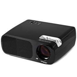 Wholesale Av Input Tv - Wholesale-U-20 LCD Projector 2600 Lumens 800x480 Pixels With HiFi Speaker TV DTV AV Y-Pb-Pr Input LED Projector Mini IR Remote Control
