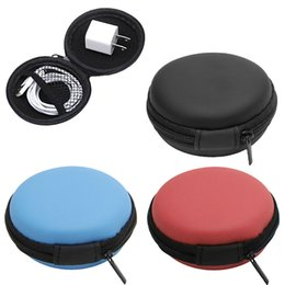 Wholesale sd tf card headphones - Wholesale- New 1Pc Mini Coin Purse Hard Case Bag Storage Case Box For SD TF Card Earphones Headphones Earbuds