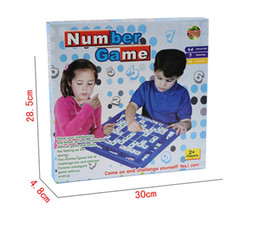 Wholesale Numbers For Children - 81 Pieces Easy Sudoku Puzzle Number Game Intelligence Toys for Children Boxed Chess 40 Questions Puzzles Toy DHL free shipping