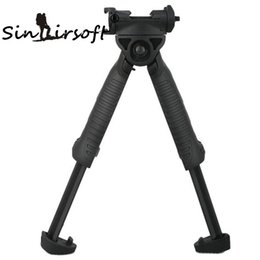 Wholesale T Pod Foregrip Bipod - Sinairsoft Defense Bipod Unmarking T-POD-G2 Rotating Tactical Foregrip Vertical Bipod Black For Hunting Rifle Munts W Weaver Picatinny Rail