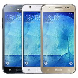 Wholesale Screen Refurbish - Refurbished Original Samsung Galaxy J5 Dual SIM J500F 5.0 inch LCD Screen Quad Core 1.5GB RAM 8GB ROM 13MP Original Battery Free DHL 1pcs