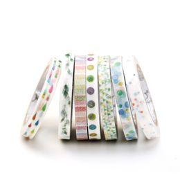 Wholesale Stationery Sticky Tape - Wholesale- 2016 1 Roll Cute Pattern Adhesive Tape Kawaii Scrapbooking DIY Craft Sticky Deco Masking Japan Washi Tape Cute Stationery 12 St