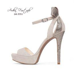 Wholesale Evening Sandal Stiletto - Arden Furtado2017 platform sandals 12cm shoes for woman sexy high heels women designer sandals evening dress shoes rhinestone butterfly knot