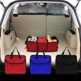 Wholesale Car Organizer Cooler - Foldable Multi Compartment Fabric Hippo Car Truck Van SUV Storage Basket Trunk Organizer and Cooler Set car trunk organizer