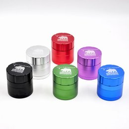 Wholesale 1 X Cali Crusher Homegrown quot MM CNC Aluminum Tobacco Herb Grinder Spice Crusher Piece with Pollen Catcher