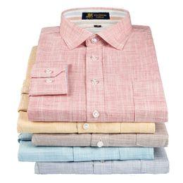 Wholesale Men S Fashion Shirts - Wholesale- Uni-Splendor 2017 Linen Men's Shirts Long Sleeve Flax Casual Shirt Men Fashion Brand Slim Fit Dress Shirt Plus Size S-4XL YN906