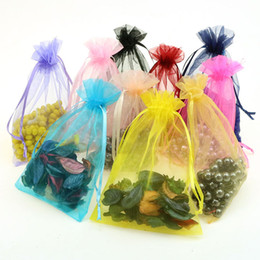 Wholesale Drawstring Gift Bag Paper - Organza Christmas Gift Bags With Drawstring Jewelry Packaging Pouches Christmas Party Candy Wedding Favor Gift Bags 7*9cm 9*12cm 11*16cm NEW