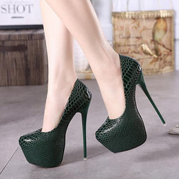 Wholesale Super High Heel 16cm - Super High Heel 16cm Women Sexy Shoes Spring & Summer Platform Patent Leather Party Women Pumps Serpentine Stiletto Heels Women's Shoes
