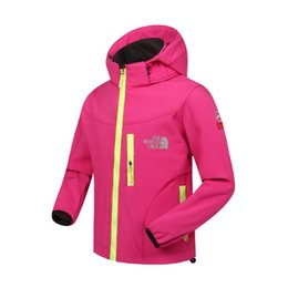 Wholesale Sports Wind Jackets - The kids Jacket North Children Face Soft Jackets coat waterproof outdoor sports autumn wind stopper child tops Hoodie Hoody sweatshirts