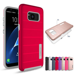 Wholesale Metal Shock Cases - Amor Case For Samsung Galaxy S8 S8Plus S7edge iPhone 7 7Plus TPU+PC 2in1 Hybrid Anti-shock Defender Case