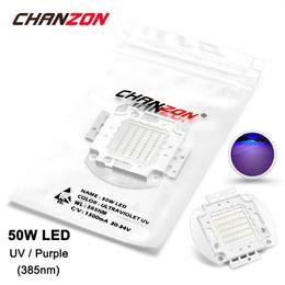 Wholesale High Power Uv Bulb - Wholesale- 50W LED Light Bulb Lamp UV Ultraviolet 385nm 30-34V 1500mA High Power 50 W Watt Purple Ultra Violet Chip Integrated 50Watt COB