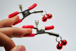 Wholesale Toys Sex Man Clips - Cheap steel metal sexy breast nipple clamps clips with 2 bells adult game fetish flirting teasing sex toys for women men couples