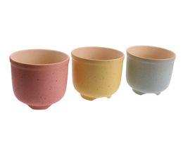 Wholesale Ceramic Clay Pots - 3PCS-PACK Candy Color Ceramic Pots Wholesale White Clay Porcelain Flowerpots Suppliers for Succulent Lithops Planting Patio Decor