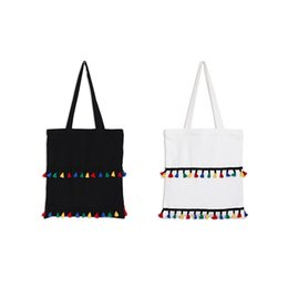Wholesale Han Bags - Han edition lovely cloth color contrast color tassel canvas bags shoulder bag handbags female students bag