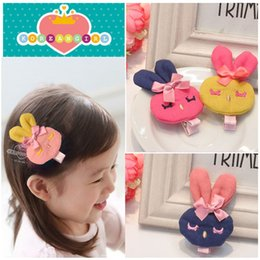 Wholesale Pressure Hair Clips - New Style Baby Girls Hair Accessories rabbit pressure clamp hair pin Headwear 20Pcs lot Free Shipping