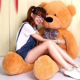 Wholesale Bear Colour - TEDDY BEAR plush Dolls Giant Jumbo Big Teddy Bear Birthday Gift Right-angle Measurements Plush Soft Toy 5 colour