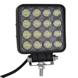 Wholesale Led Fog Lights Square - 4'' inch 48w Square LED Work Light Off road Spot Lights Truck Lights 4x4 Tractor Jeep Work Lights Fog Lamp For Jeep Cabin Boat SUV Truck Car