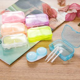 Wholesale Wholesalers Contact Lenses - Contact Lens Box Colored Contacts DHL arrive 4-6 days 3 Tone contact lenses box Contact lens case 100 pair