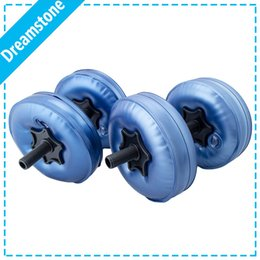 Wholesale Muscle Building Gym - Wholesale- Free shipping 2016 new arrival fittness adjustable weight water filled dumbbell 4 bags set muscle building gym equipment plastic