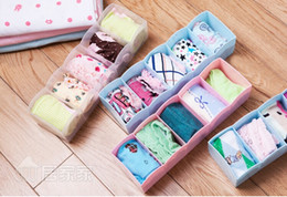 Wholesale Wholesale Japanese Underwear - 10PCS LOT Japanese 5 lattice multipurpose superposition underwear socks accessory storage box 27X8.3X7CM